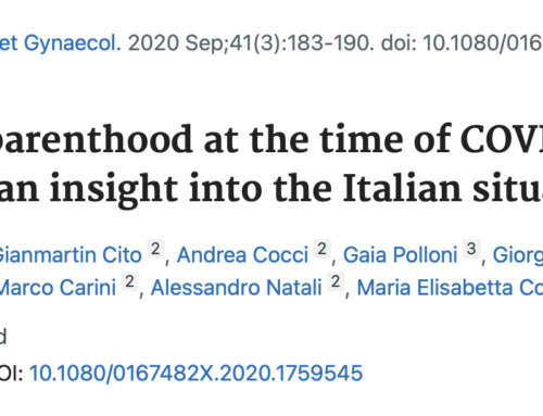 Our study on the desire for parenthood in Italian couples during the Covid-19 pandemic has been published!