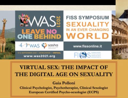"""Relatore al Congresso dell'Associazione Mondiale per la Salute Sessuale con """"virtual sex: the impact of the digital age on sexuality"""""""